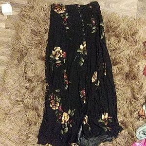 Vintage button front maxi skirt